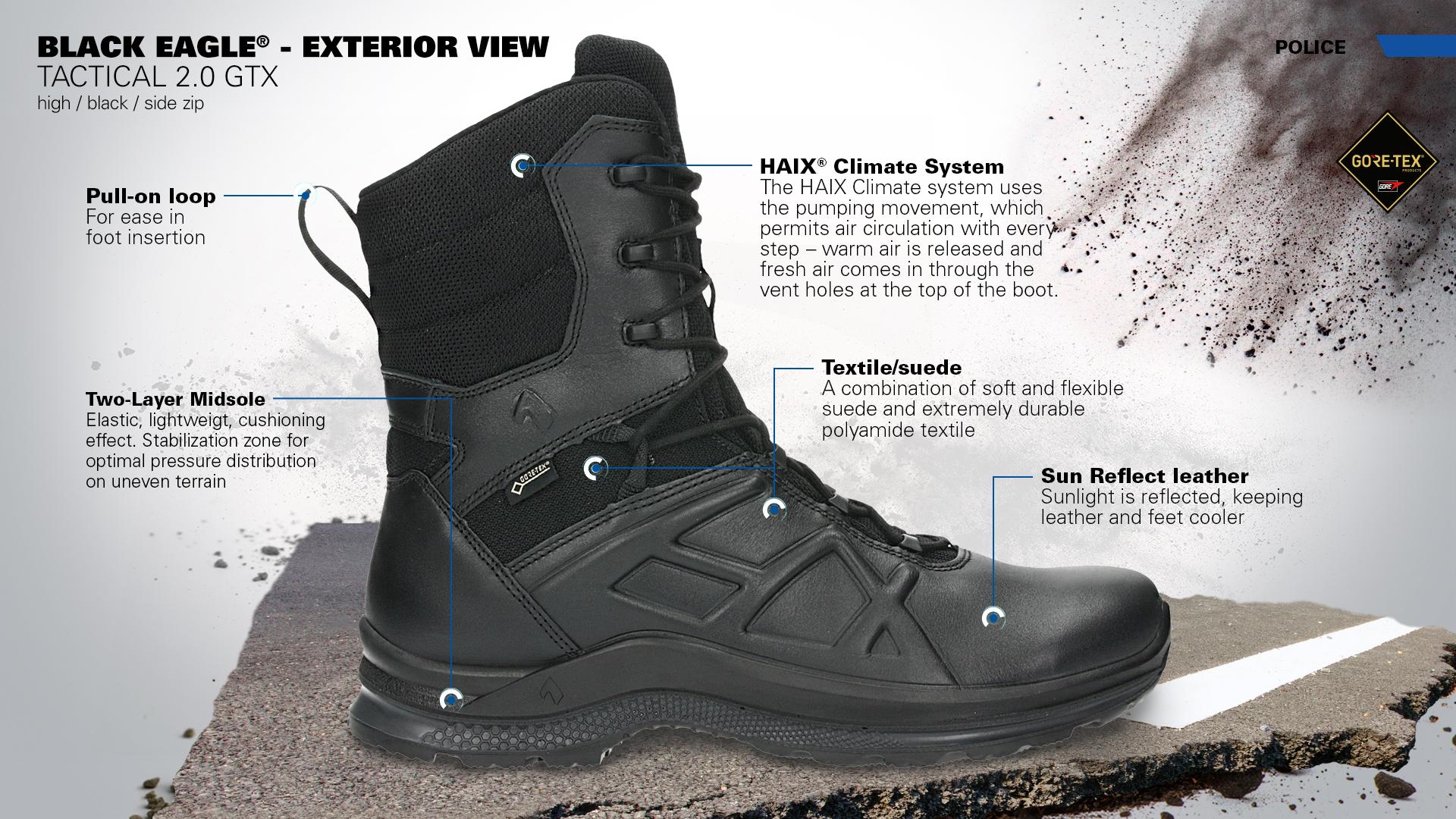 Black Eagle Tactical 2.0 GTX High Side Zip